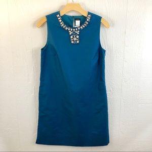 Crewcuts NWT Jeweled Neck Teal Dress